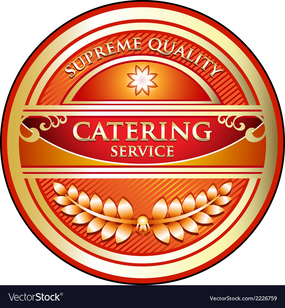 Catering service label vector | Price: 1 Credit (USD $1)