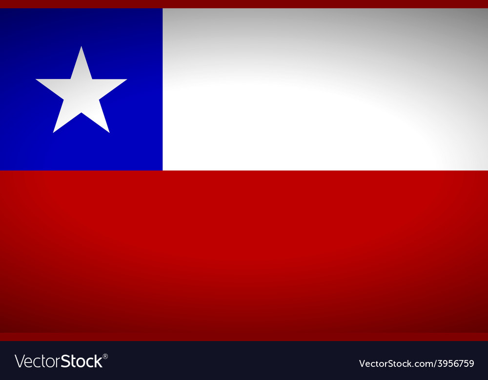 Flag of chile vector | Price: 1 Credit (USD $1)