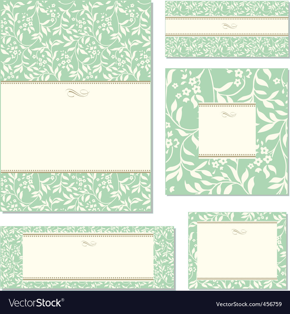 green ivy frame set vector | Price: 1 Credit (USD $1)