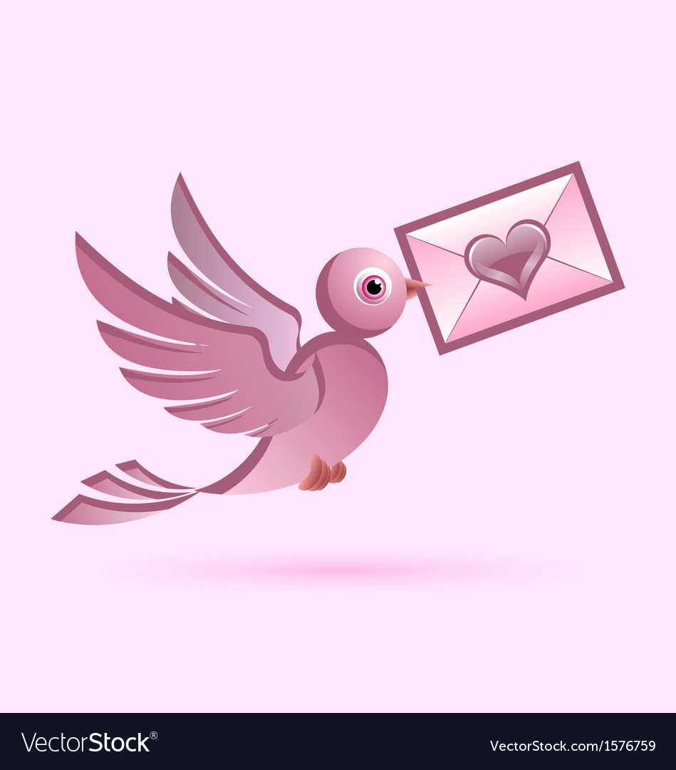 Homing postal pigeon vector | Price: 1 Credit (USD $1)