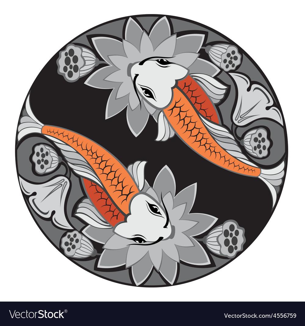 Image of an carp koi vector