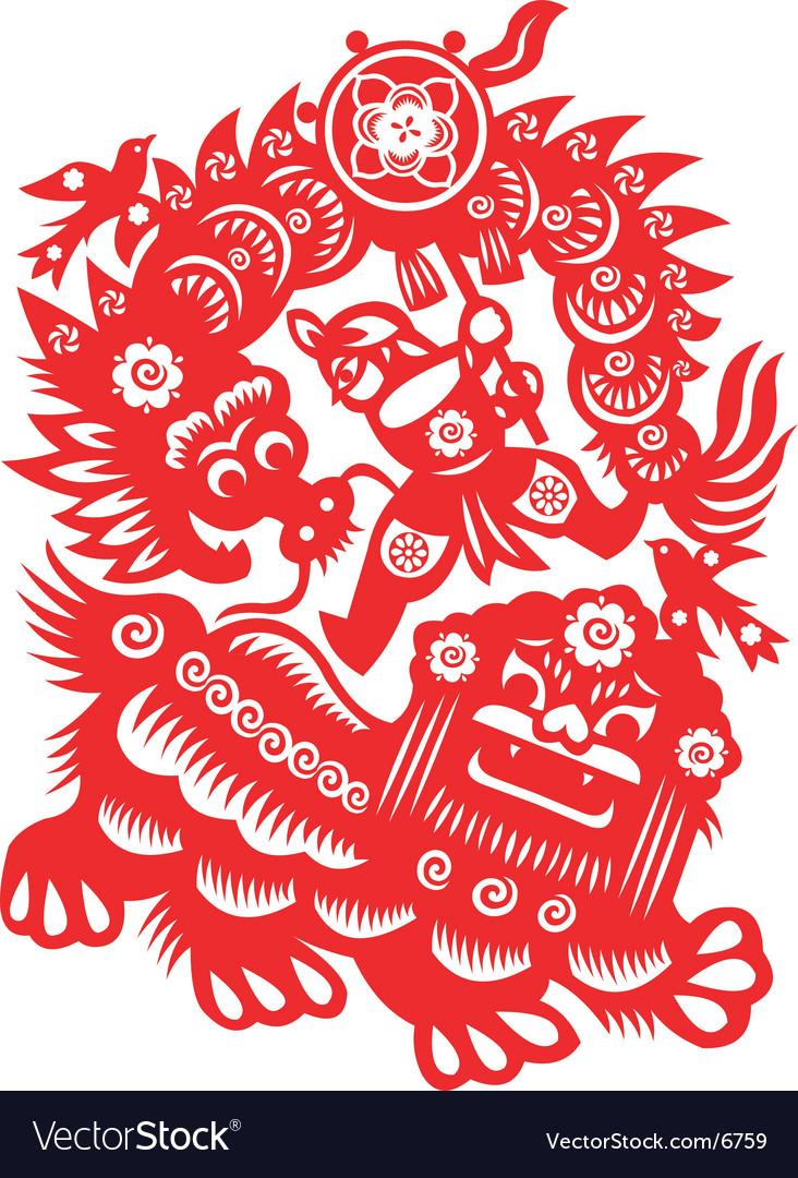 Lion dance vector | Price: 1 Credit (USD $1)