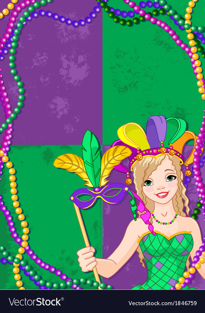 Mardi gras banner vector | Price: 3 Credit (USD $3)