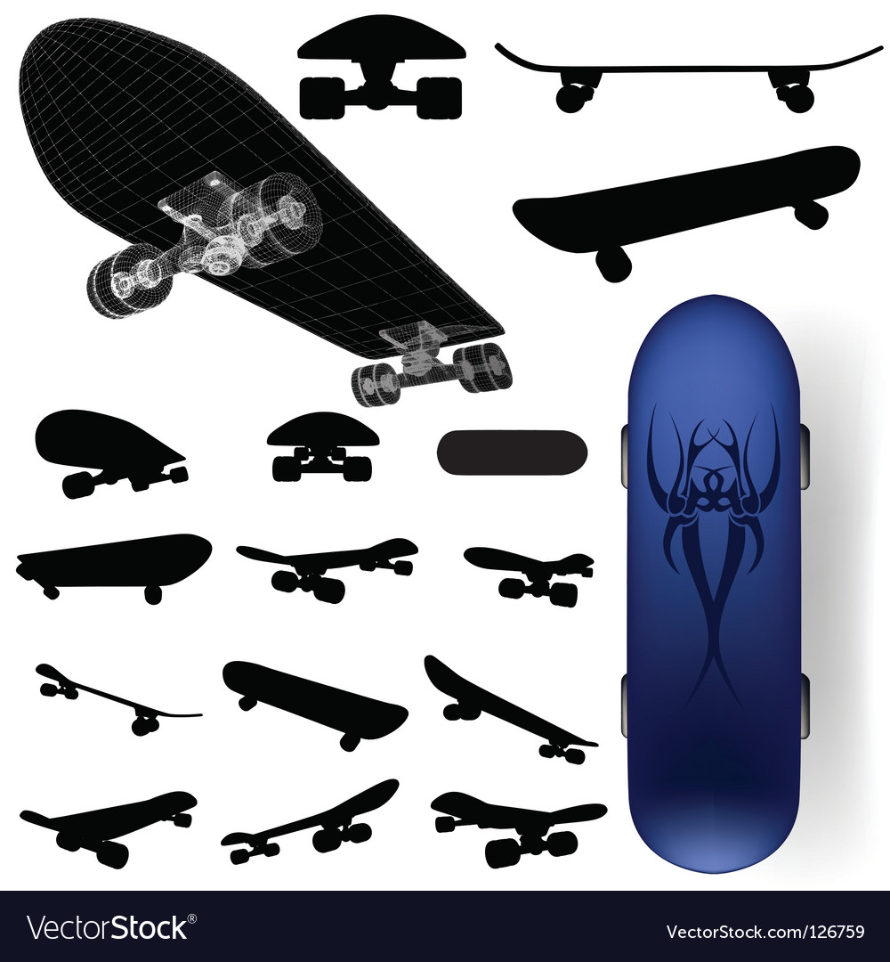 Skateboard vector | Price: 1 Credit (USD $1)