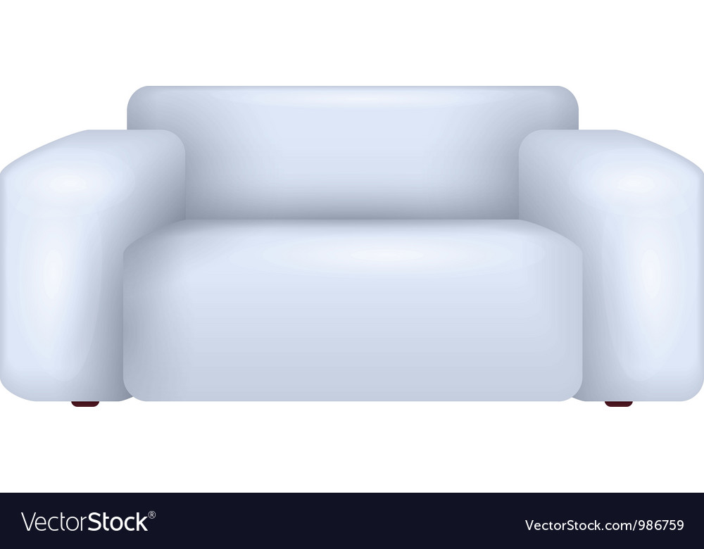 White sofa vector | Price: 1 Credit (USD $1)
