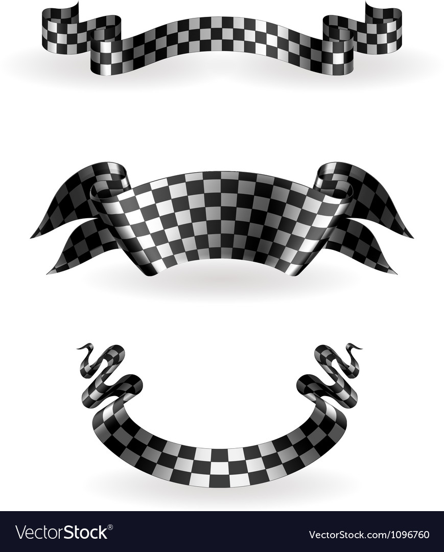 Checkered ribbons set vector | Price: 1 Credit (USD $1)
