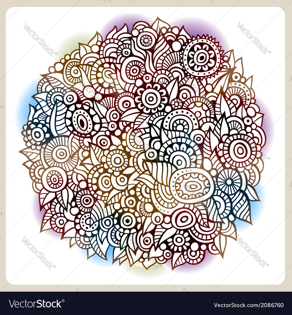 Circle flowers composition vector | Price: 1 Credit (USD $1)