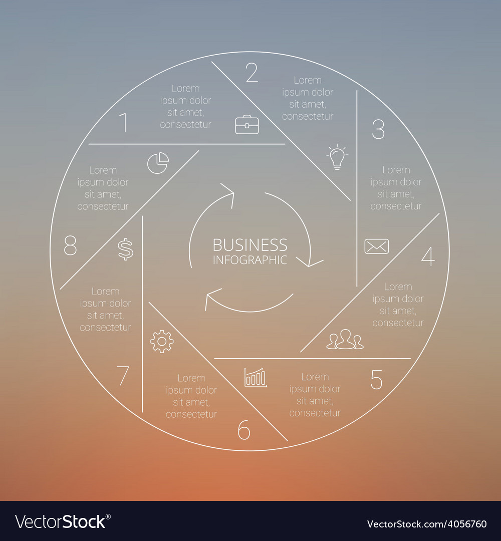 Circle line infographic graph diagram blur vector | Price: 1 Credit (USD $1)