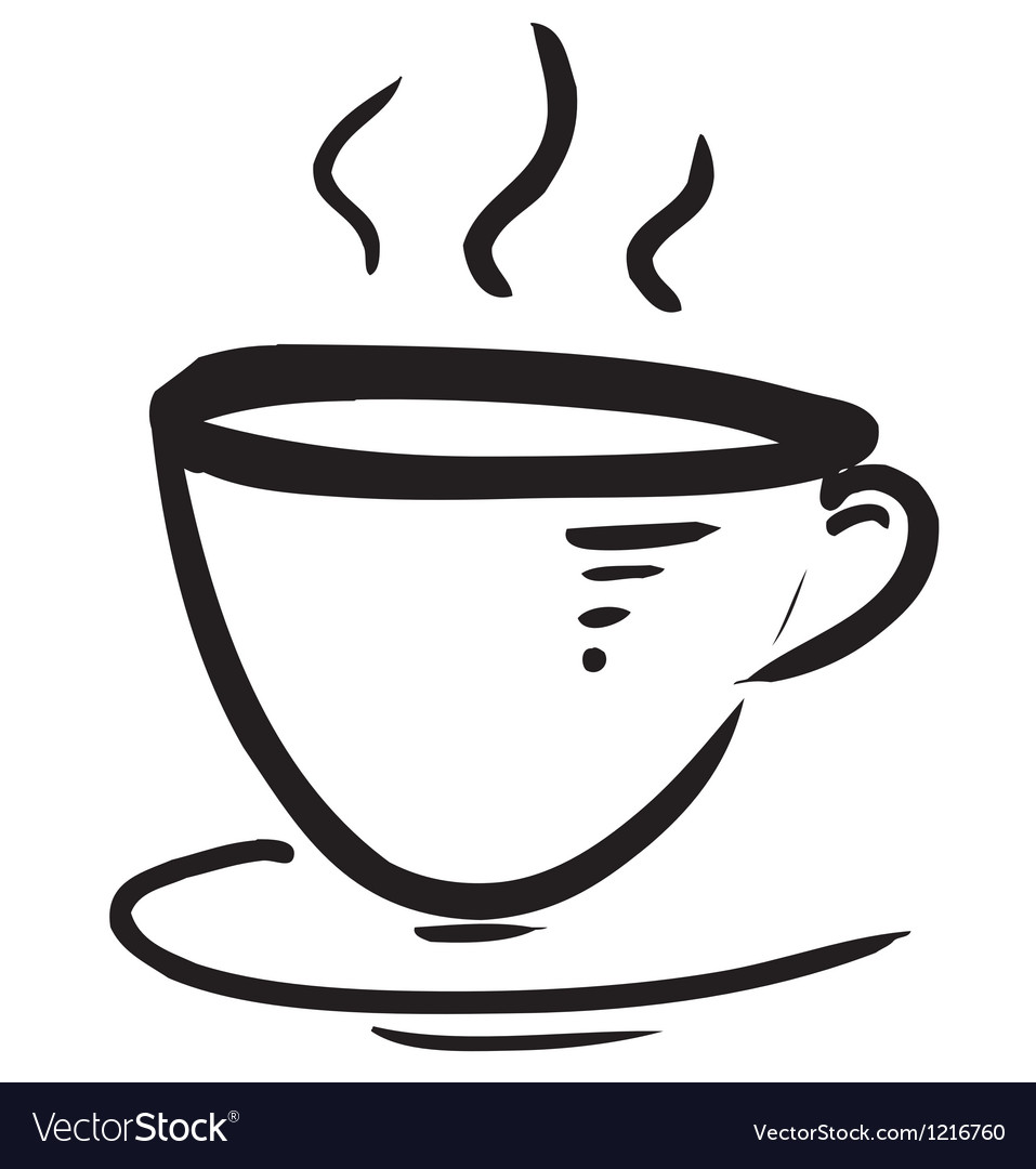 Cup with steam stylized vector | Price: 1 Credit (USD $1)