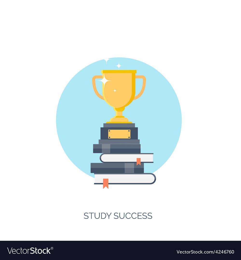 Flat  trophy study success vector   Price: 1 Credit (USD $1)