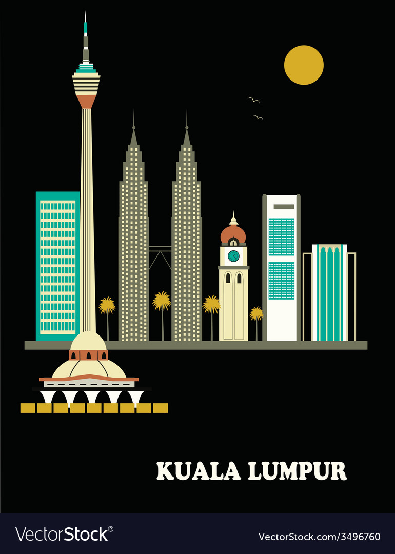 Kuala lumpur city vector | Price: 1 Credit (USD $1)