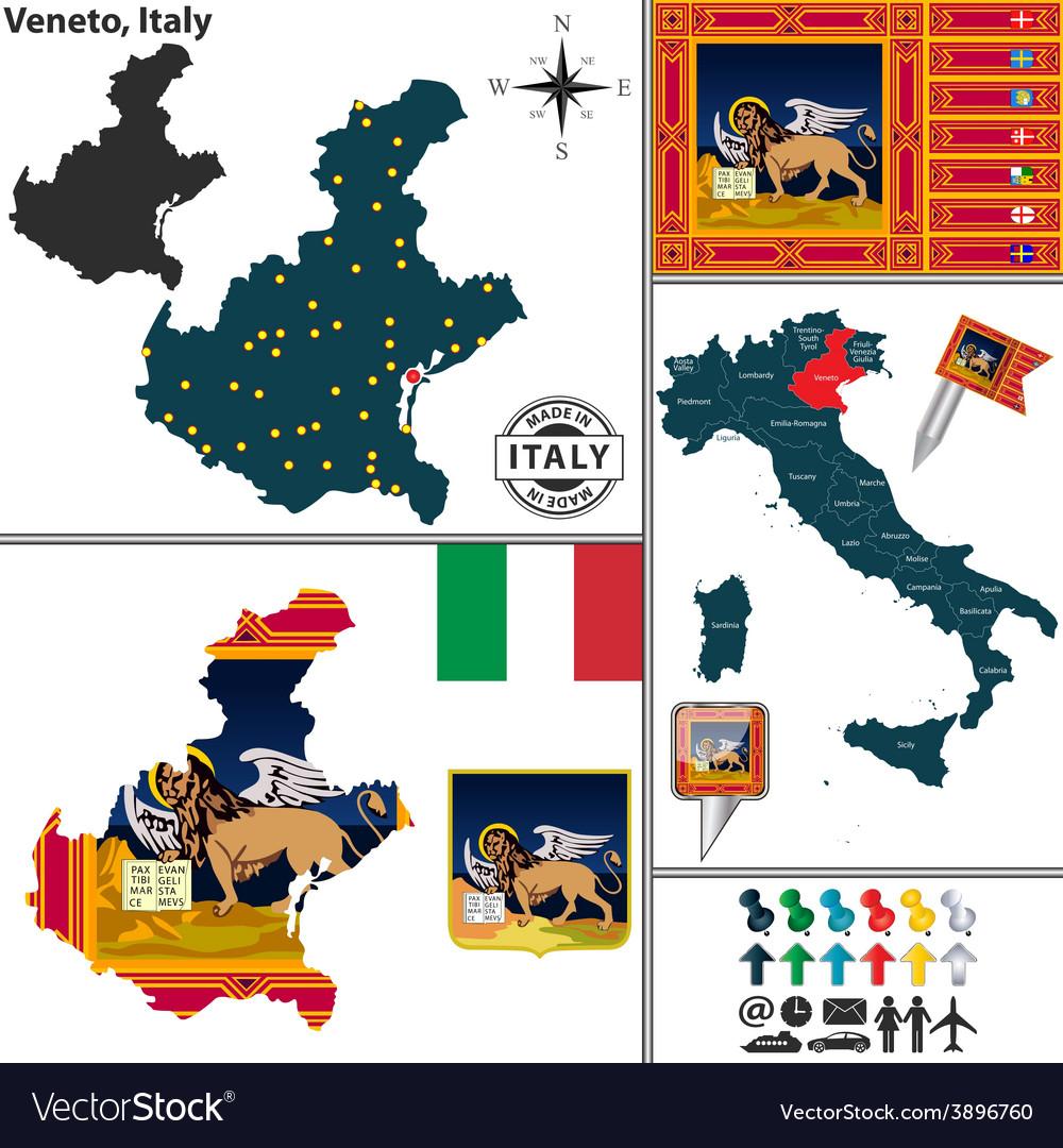 Map of veneto vector | Price: 1 Credit (USD $1)