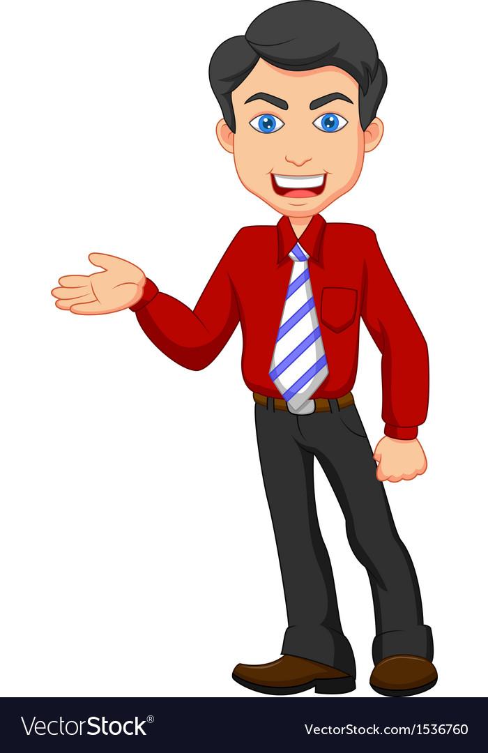 Office worker cartoon presenting vector   Price: 1 Credit (USD $1)