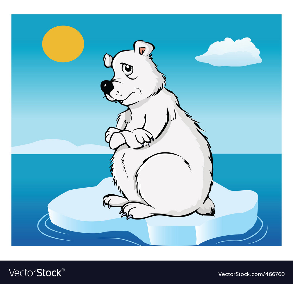 Polar bear global warming vector | Price: 1 Credit (USD $1)