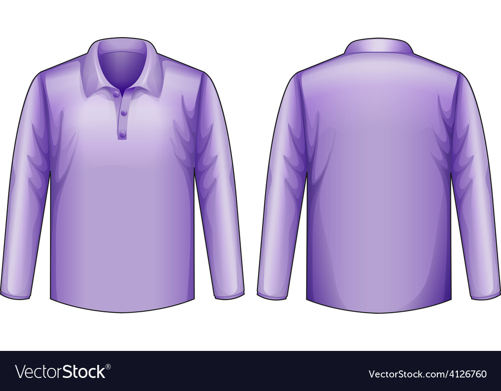 Purple shirt vector   Price: 1 Credit (USD $1)