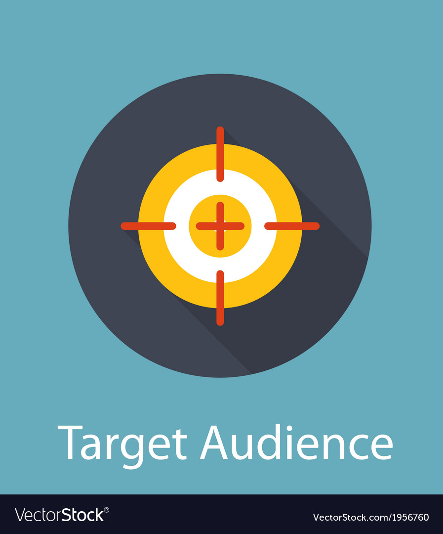 Target audience flat concept icon vector | Price: 1 Credit (USD $1)