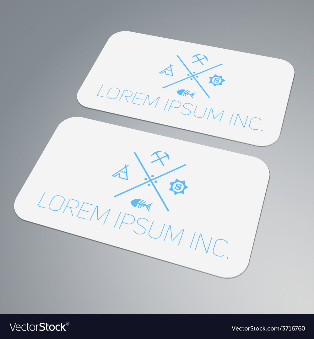 Template of business card vector | Price: 1 Credit (USD $1)