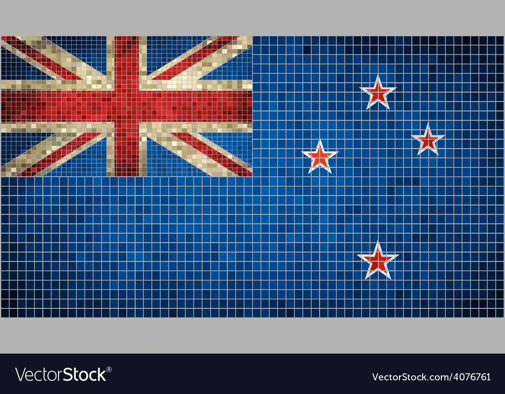 Abstract mosaic flag of new zealand vector | Price: 1 Credit (USD $1)