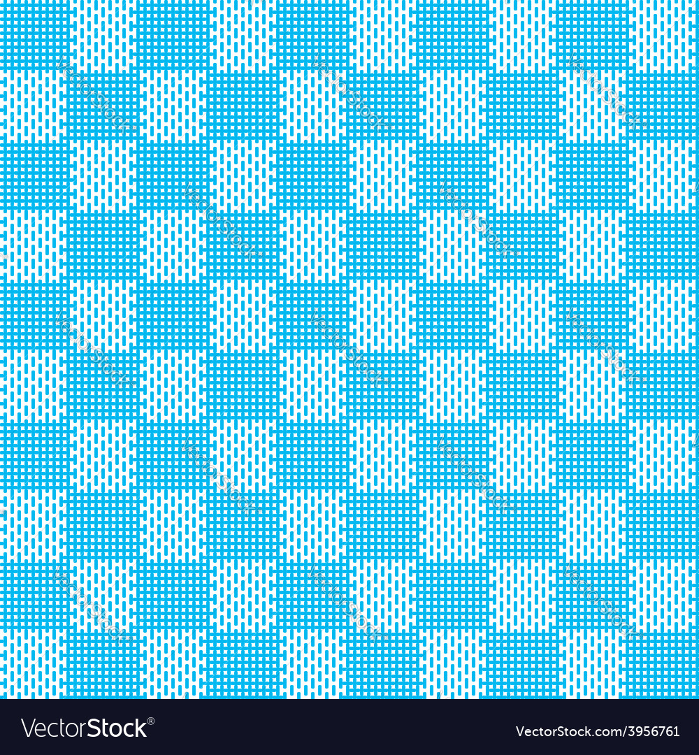 Blue white seamless fabric texture pattern vector | Price: 1 Credit (USD $1)