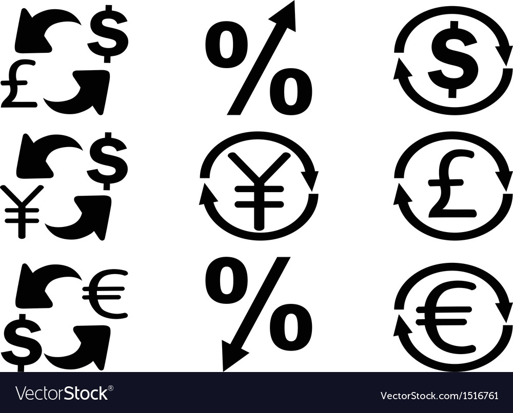 Currency exchange icons set vector | Price: 1 Credit (USD $1)