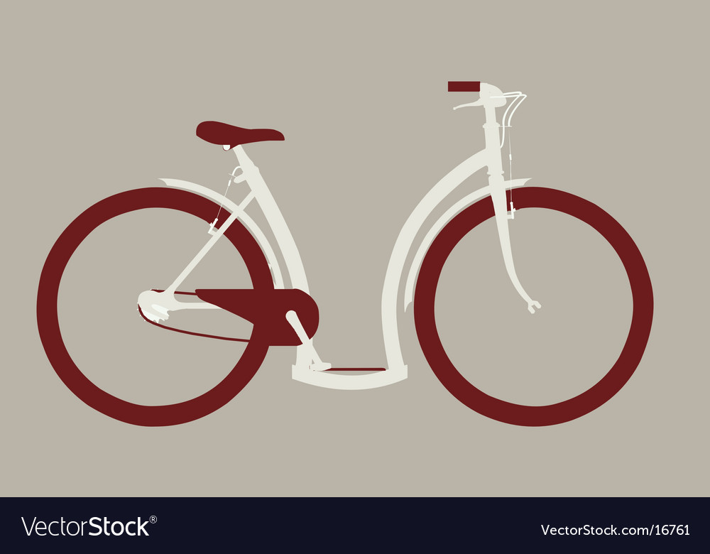 Cycle side view vector | Price: 1 Credit (USD $1)