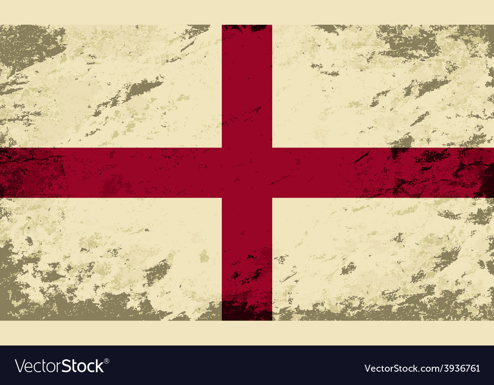 English flag grunge background vector | Price: 1 Credit (USD $1)