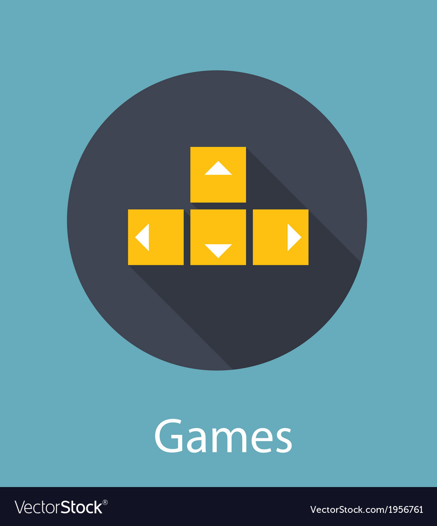 Games flat concept icon vector | Price: 1 Credit (USD $1)
