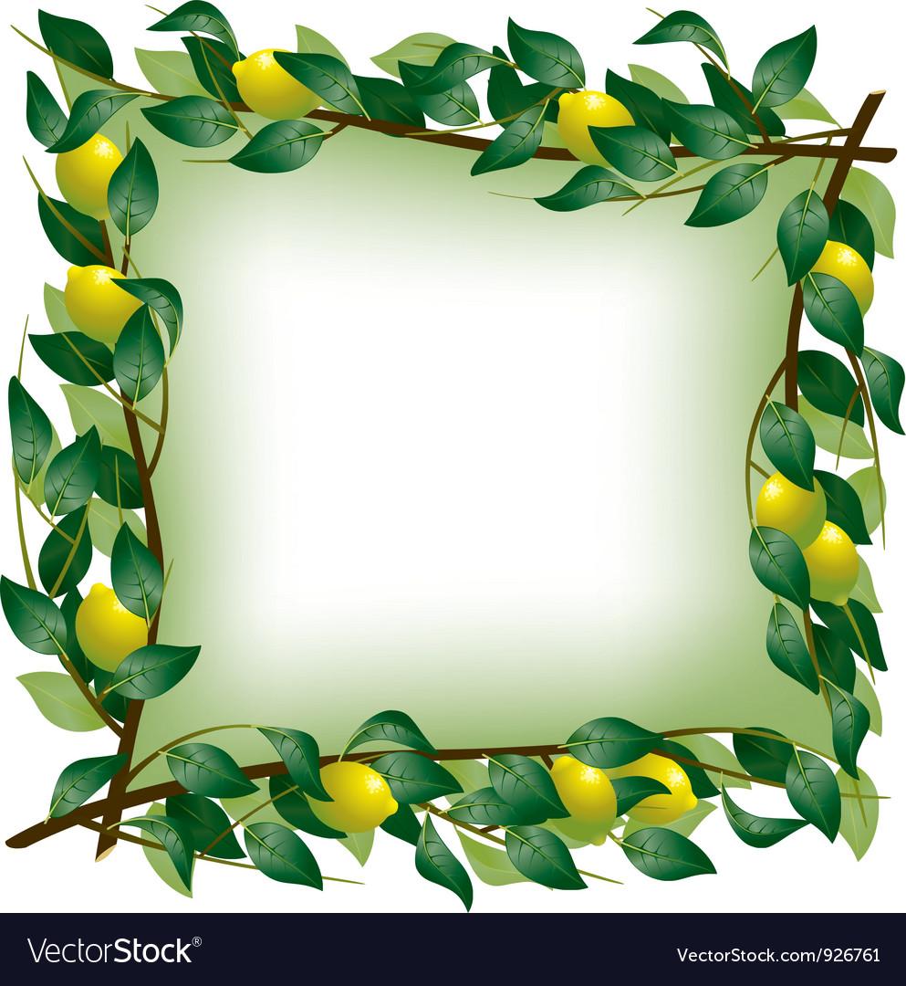 Lemon branch frame vector   Price: 3 Credit (USD $3)