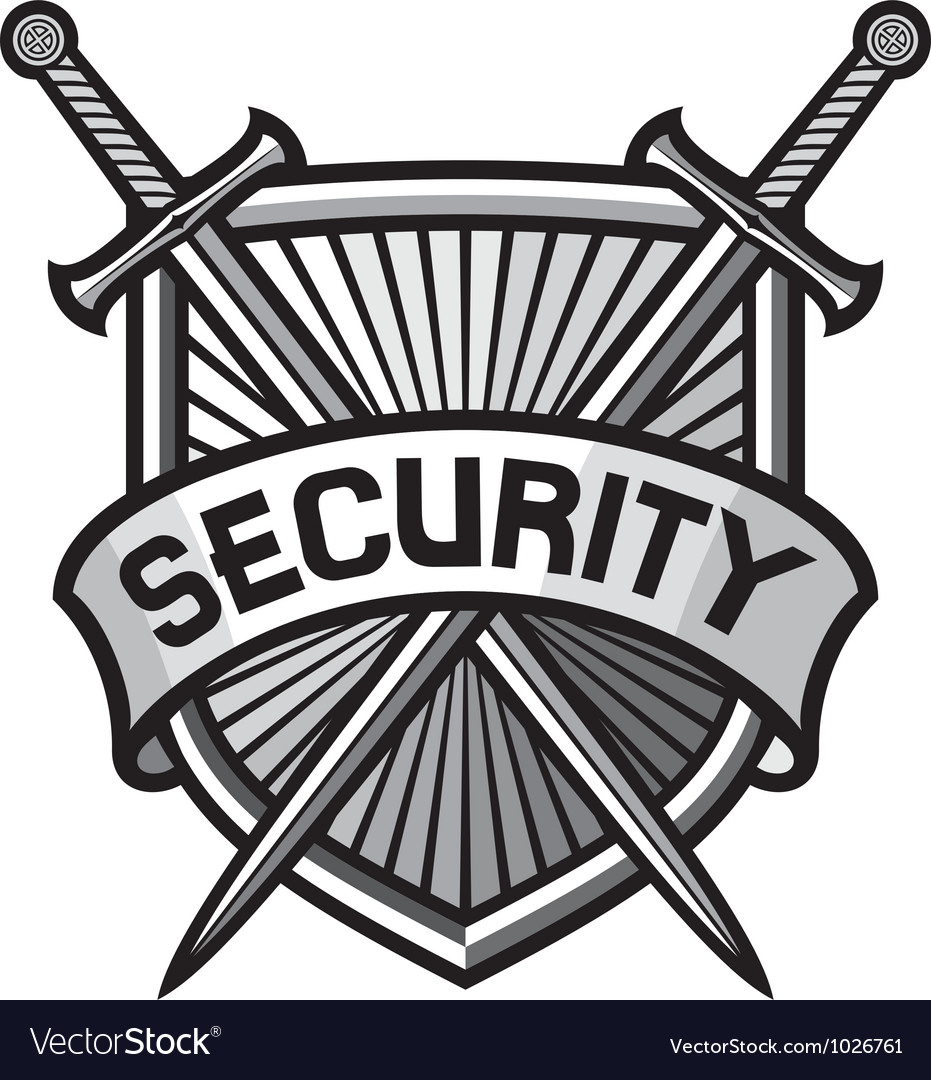 Metallic security shield -securite sign vector | Price: 1 Credit (USD $1)