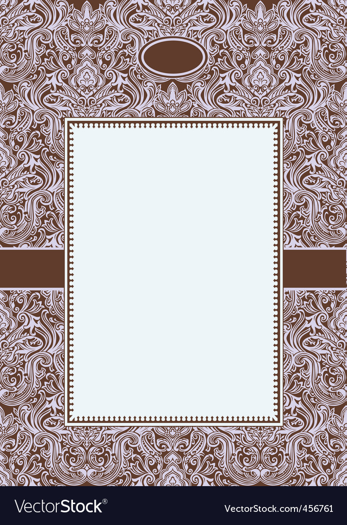 purple ornate frame3 vector | Price: 1 Credit (USD $1)