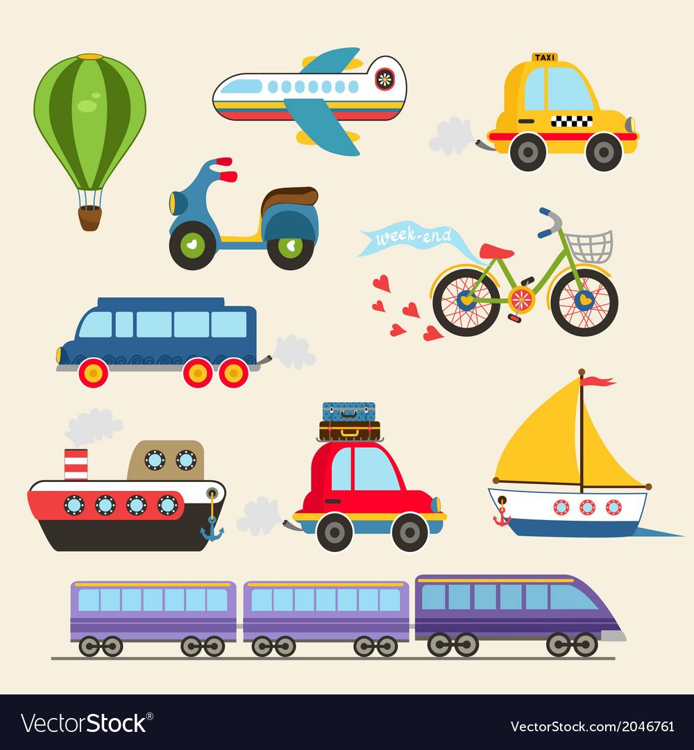 Transport set vector | Price: 1 Credit (USD $1)