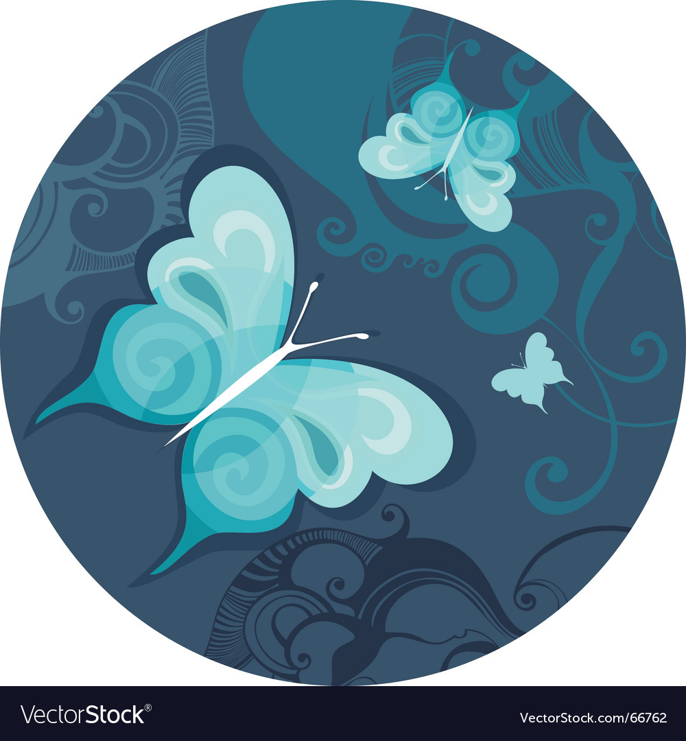 Butterfly night vector | Price: 1 Credit (USD $1)
