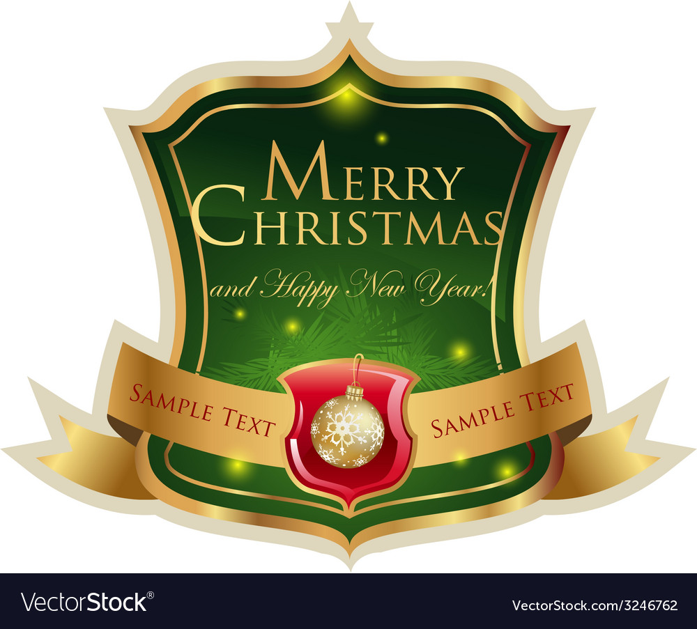 Christmas label vector | Price: 3 Credit (USD $3)