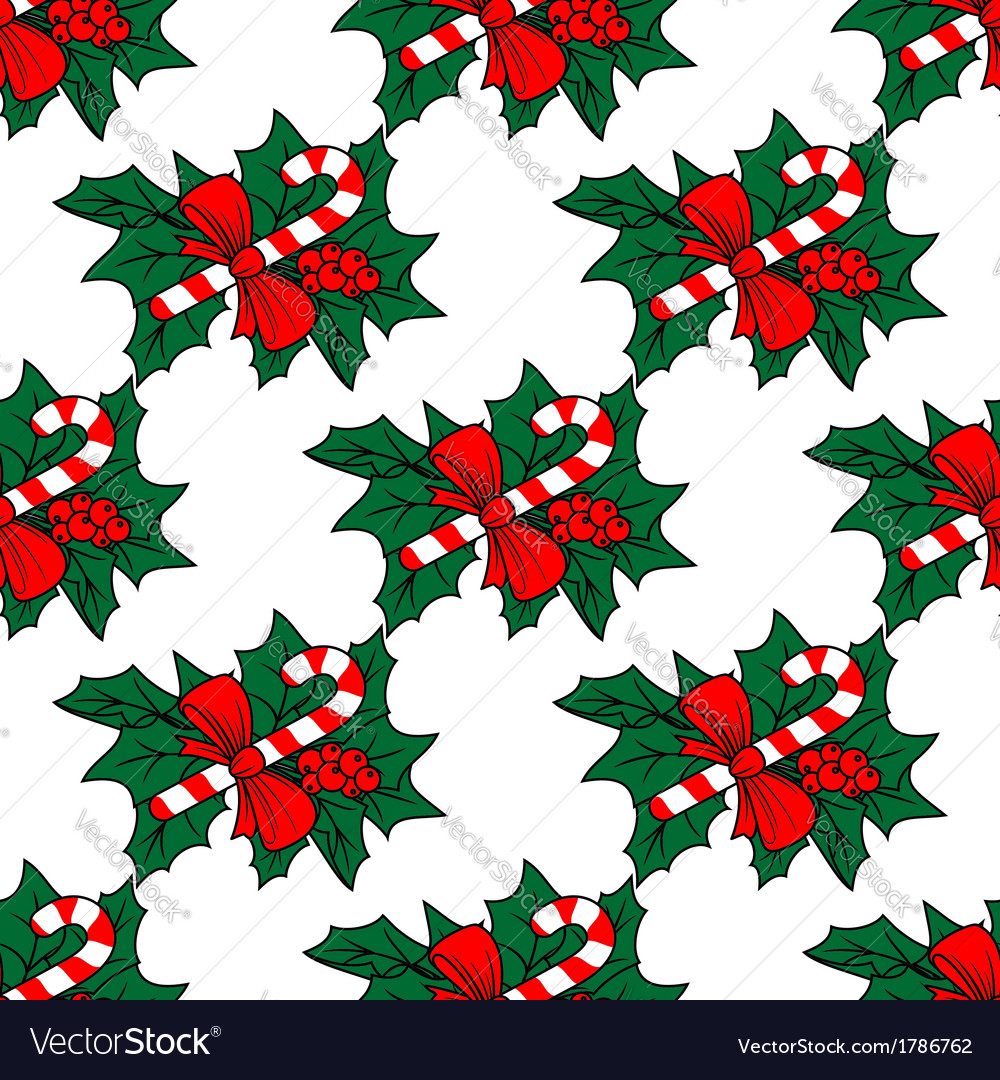 Christmas seamless pattern with candy sticks vector   Price: 1 Credit (USD $1)