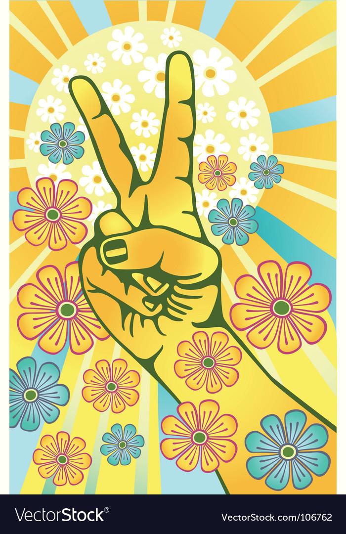 Flower power vector | Price: 1 Credit (USD $1)
