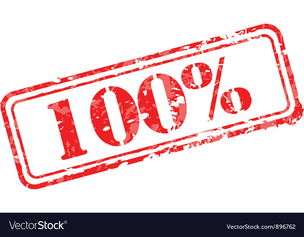 Hundred percent rubber stamp vector | Price: 1 Credit (USD $1)