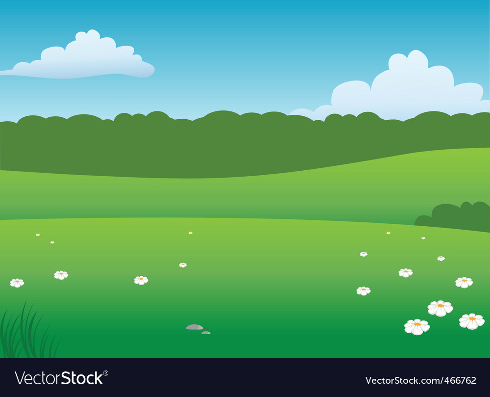 Prairie background vector | Price: 1 Credit (USD $1)