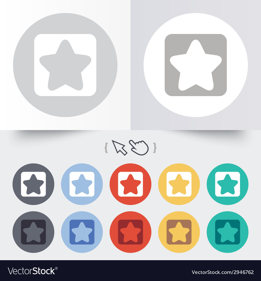 Star sign icon favorite button navigation vector   Price: 1 Credit (USD $1)