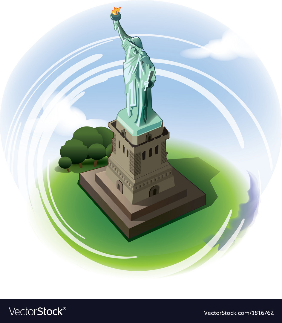 Statue of liberty new york vector | Price: 3 Credit (USD $3)