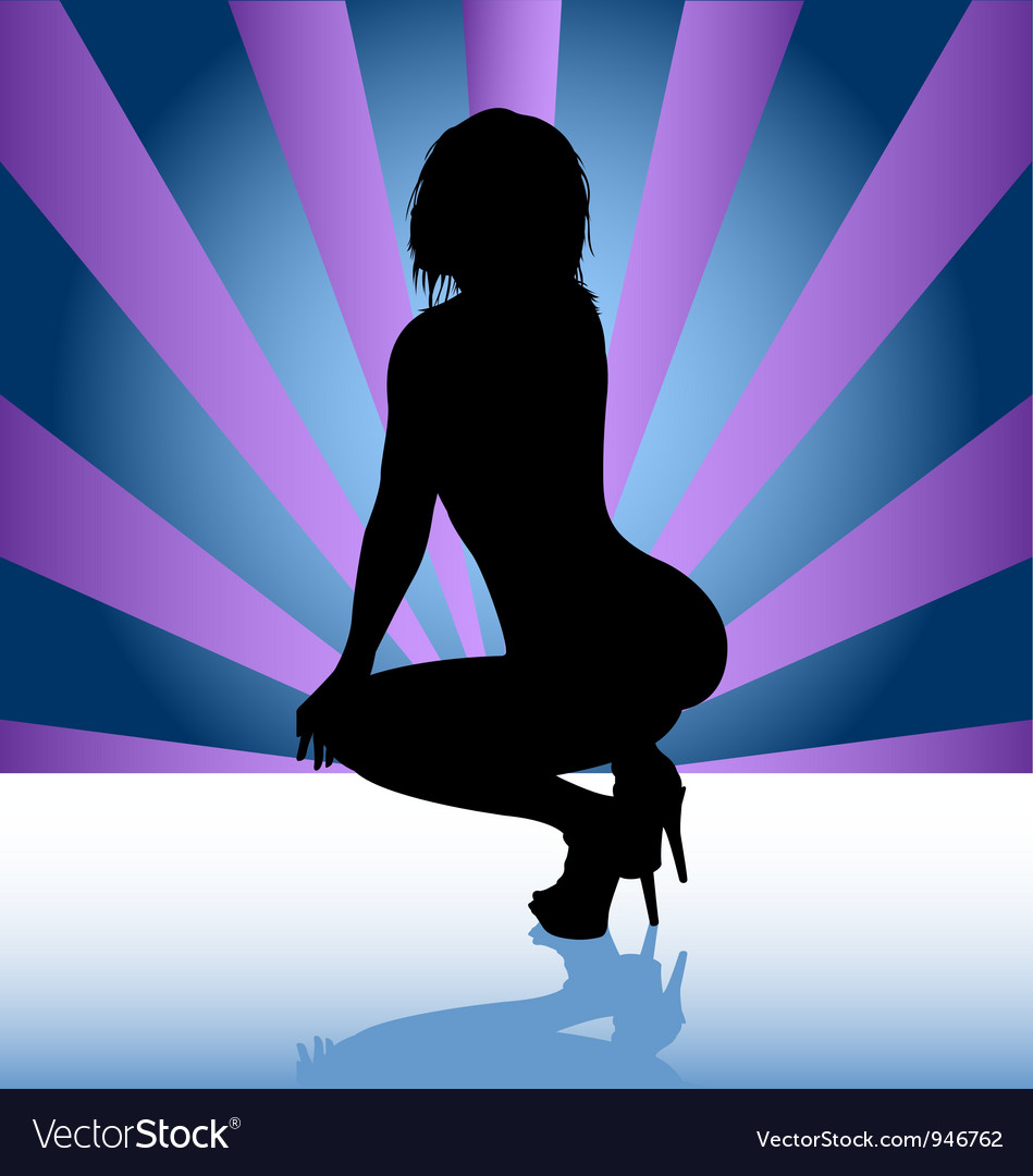 Stripper silhouette vector | Price: 1 Credit (USD $1)