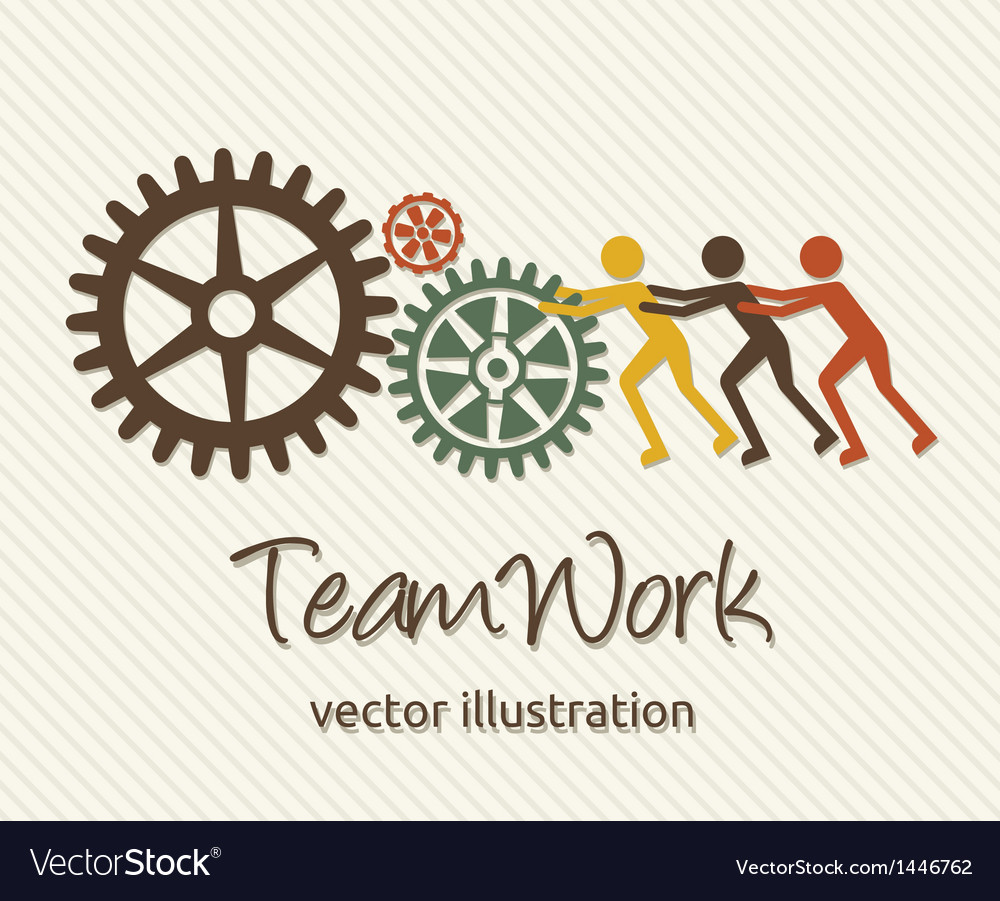Teamwork card vector | Price: 1 Credit (USD $1)