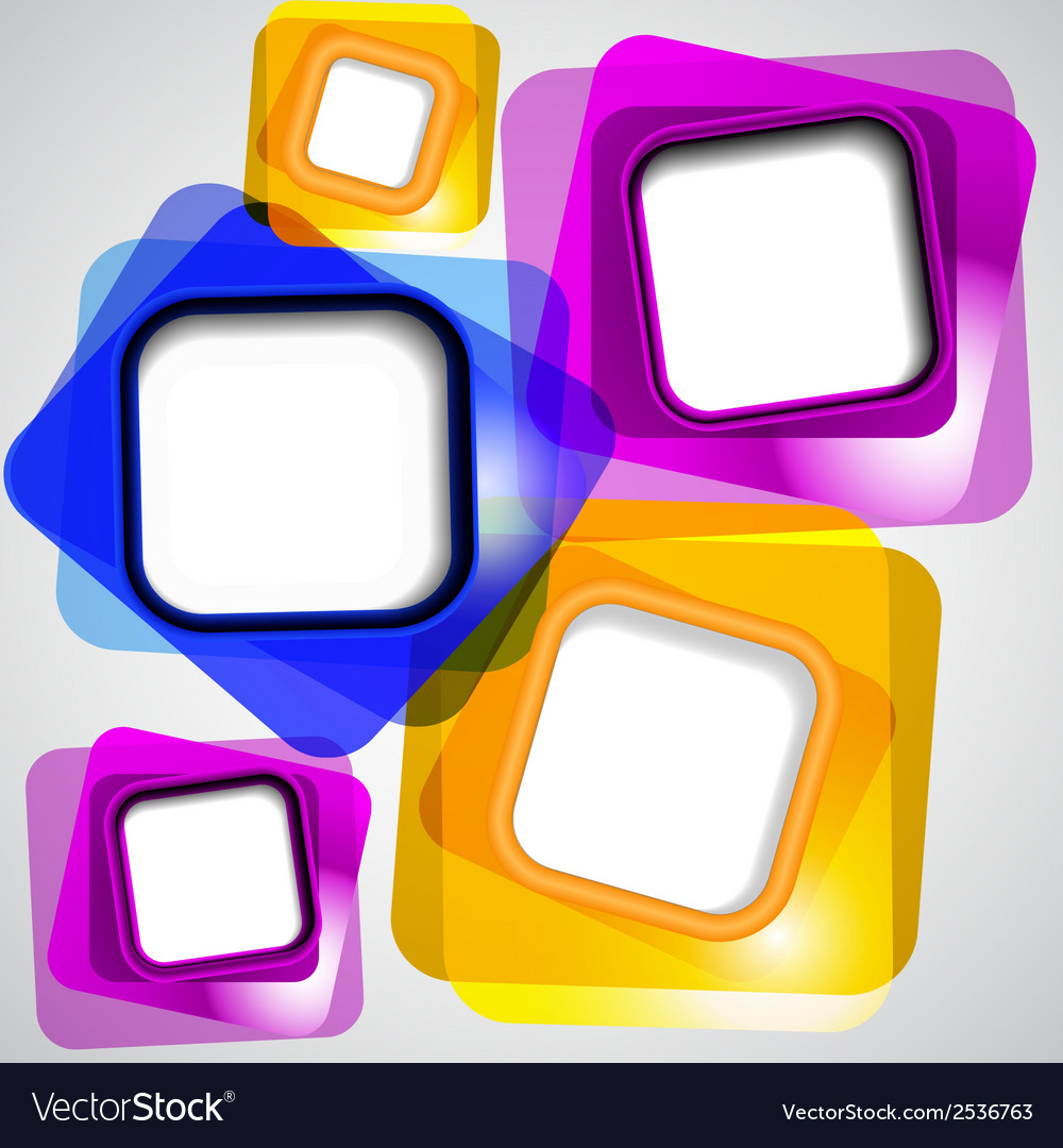 Abstract background of color squares vector | Price: 1 Credit (USD $1)