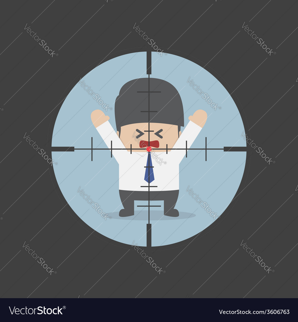 Businessman in the rifle sight vector | Price: 1 Credit (USD $1)