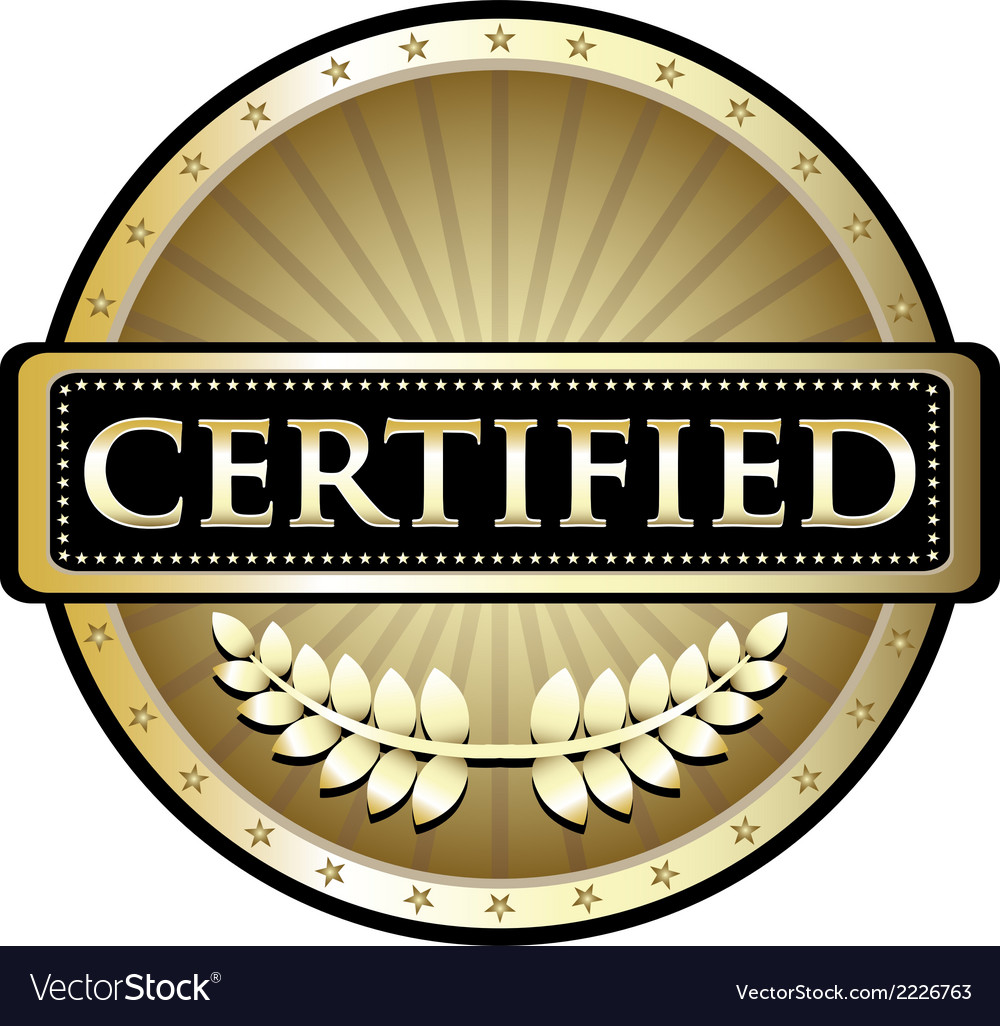 Certified gold emblem vector | Price: 1 Credit (USD $1)