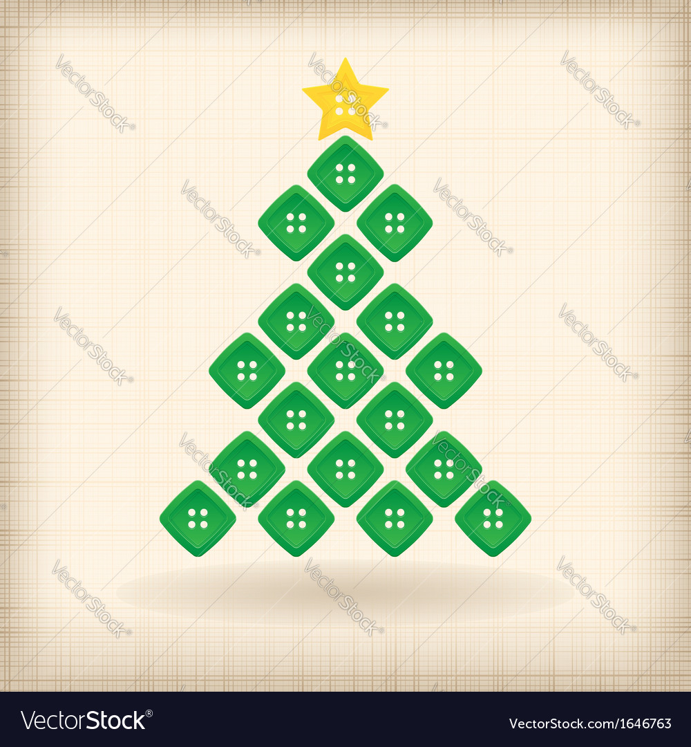 Christmas tree made of buttons vector | Price: 1 Credit (USD $1)