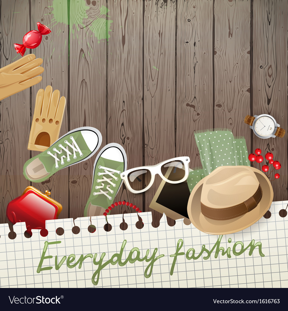 Everyday fashion background vector | Price: 1 Credit (USD $1)