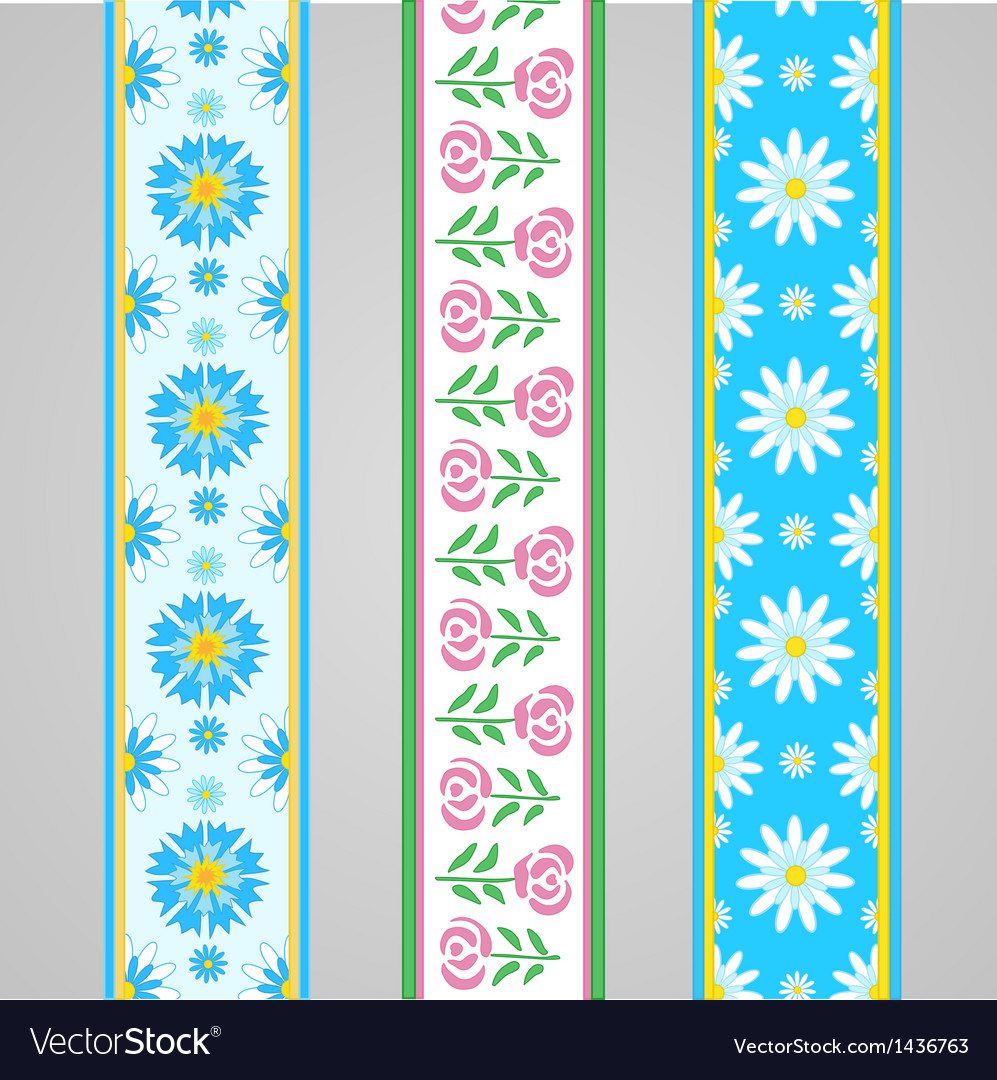 Floral summer borders with roses vector | Price: 1 Credit (USD $1)