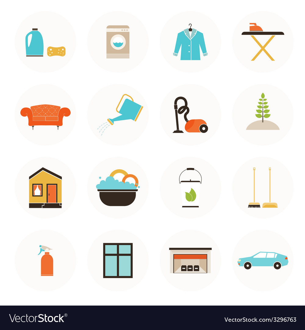 Housekeeping icons vector | Price: 1 Credit (USD $1)