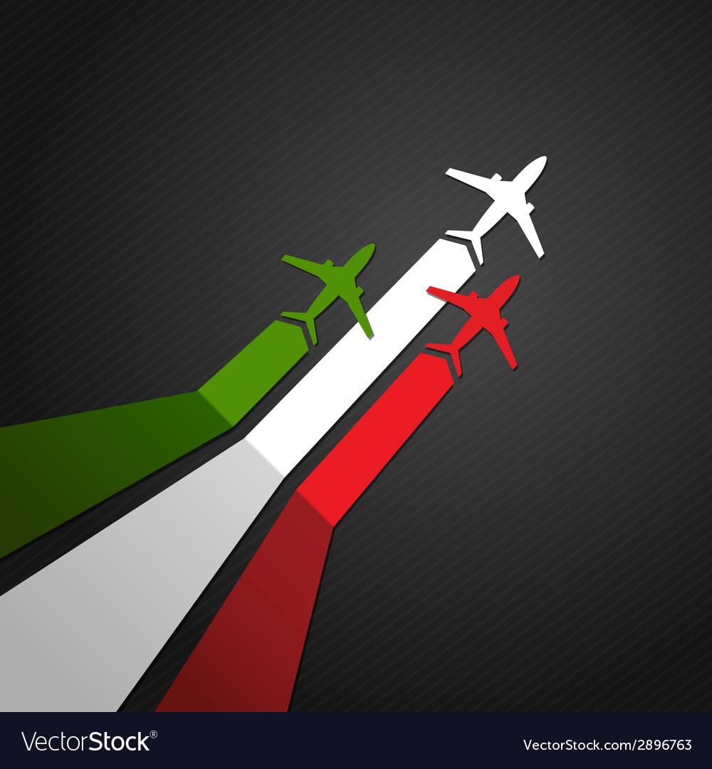 Italy plane vector | Price: 1 Credit (USD $1)