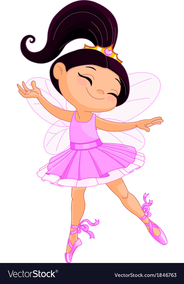 Little fairy ballerina vector | Price: 1 Credit (USD $1)